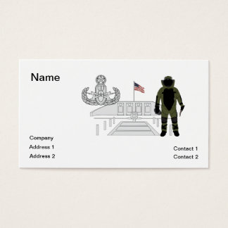 EOD Master Memorial Bomb Suituit Business Card