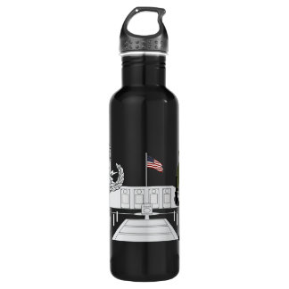 EOD Master Memorial Bomb Suituit Stainless Steel Water Bottle