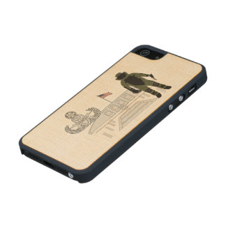 EOD Master Memorial Bomb Suituit Wood iPhone SE/5/5s Case