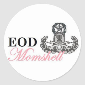 eod master momshell round stickers
