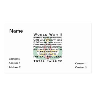 EOD Master WWII Business Card