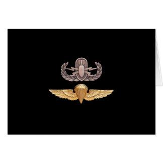 EOD Parachutist Greeting Card
