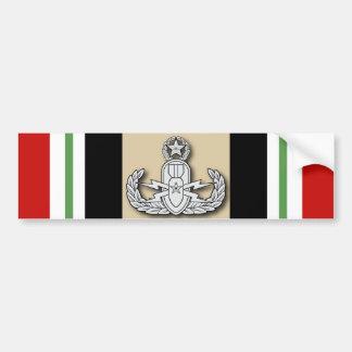 EOD principal Iraq Etiqueta De Parachoque