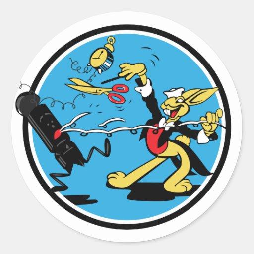 EOD Rabbit Classic Round Sticker