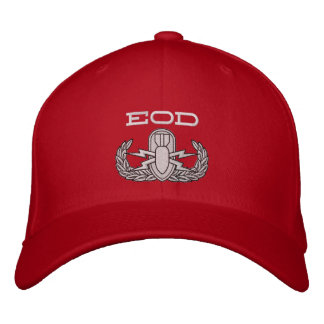 EOD Red Hat Embroidered Hat