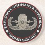 "EOD Senior ""Bomb Squad"" Beverage Coasters"