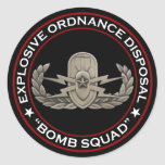 """EOD Senior """"Bomb Squad"""" Classic Round Sticker"""