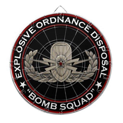 """EOD Senior """"Bomb Squad"""" Dart Board"""