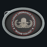"EOD Senior &quot;Bomb Squad&quot; Oval Belt Buckle<br><div class=""desc"">Original photo of an EOD Senior badge on black with Explosive Ordnance Disposal &quot;Bomb Squad&quot; around</div>"