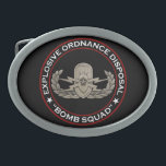 "EOD Senior &quot;Bomb Squad&quot; Oval Belt Buckle<br><div class=""desc"">Original photo of an EOD Senior badge on black with Explosive Ordnance Disposal &quot;Bomb Squad&quot; around</div>"