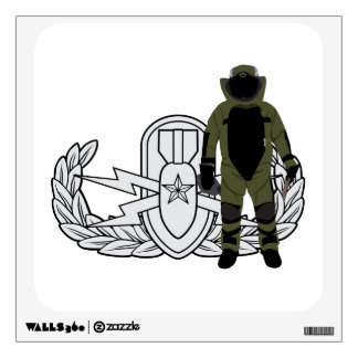 EOD Senior Bomb Suit Wall Decal