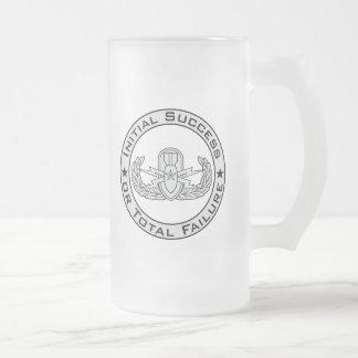 EOD Senior ISoTF Frosted Glass Beer Mug