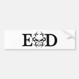EOD skull Bumper Sticker