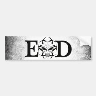 EOD skull with crab grunge Car Bumper Sticker
