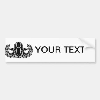 EOD stencil Bumper Sticker