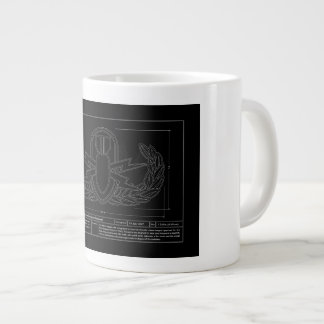 EOD Technical Drawing Large Coffee Mug