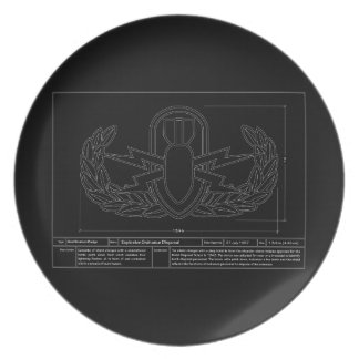 EOD Technical Drawing Melamine Plate