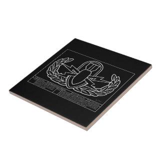 EOD Technical Drawing white Ceramic Tile