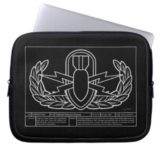 EOD Technical Drawing white Laptop Sleeve