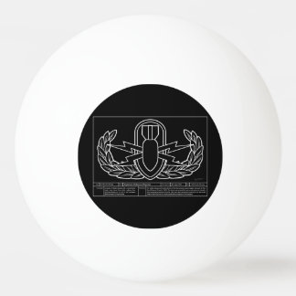 EOD Technical Drawing white Ping Pong Ball
