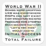 EOD WWII principal Pegatina Cuadrada