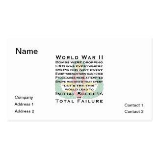 EOD WWII principal Tarjetas De Visita