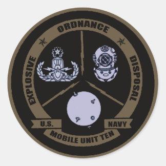 EODMU10 CLASSIC ROUND STICKER