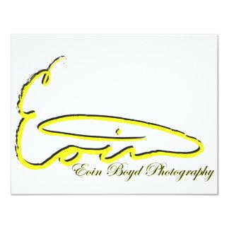 "Eoin Boyd Products 4.25"" X 5.5"" Invitation Card"