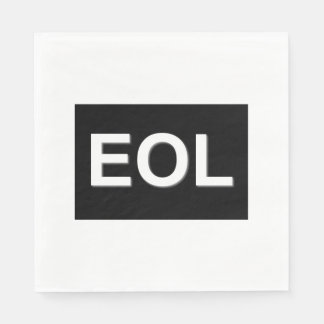 EOL End Of Life Paper Napkin