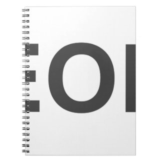 EOL End Of Life Spiral Notebook