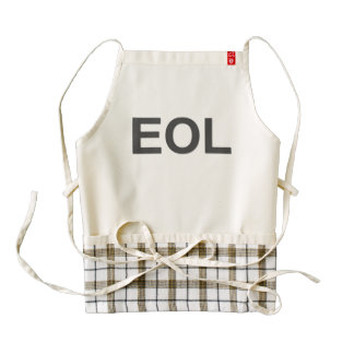 EOL End Of Life Zazzle HEART Apron