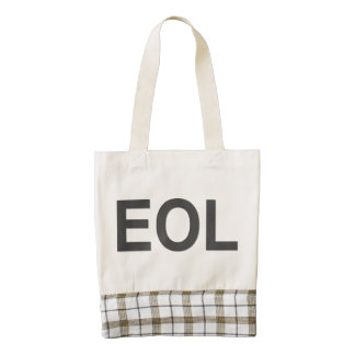 EOL End Of Life Zazzle HEART Tote Bag