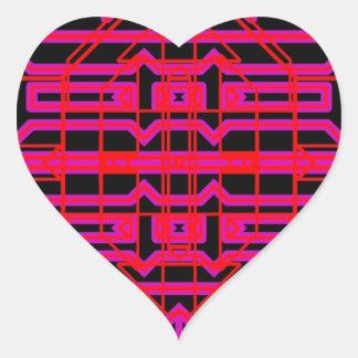 Eón de neón 6 pegatina en forma de corazón
