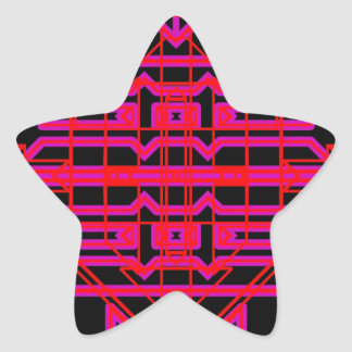 Eón de neón 6 pegatina en forma de estrella