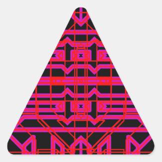 Eón de neón 6 pegatina triangular