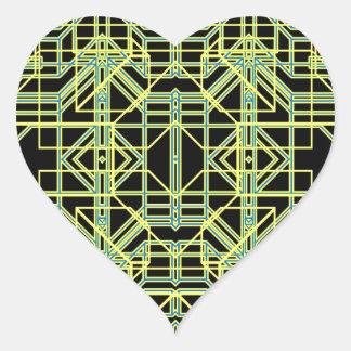 Eón de neón 8 pegatina en forma de corazón