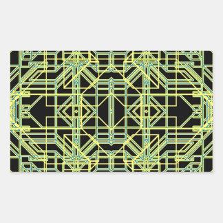 Eón de neón 8 pegatina rectangular