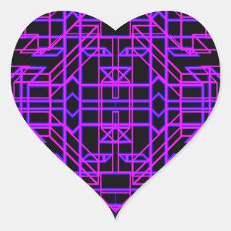 Eón de neón 9 pegatina en forma de corazón