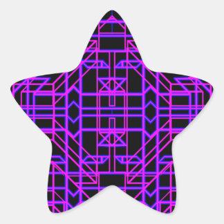 Eón de neón 9 pegatina en forma de estrella