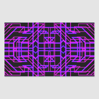 Eón de neón 9 pegatina rectangular