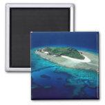 Eori Island, Mamanuca Islands, Fiji - aerial 2 Inch Square Magnet