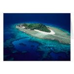 Eori Island, Mamanuca Islands, Fiji - aerial Card