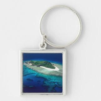 Eori Island, Mamanuca Islands, Fiji - aerial Keychain