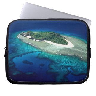Eori Island, Mamanuca Islands, Fiji - aerial Laptop Sleeve