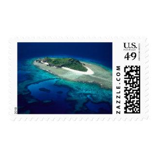 Eori Island, Mamanuca Islands, Fiji - aerial Postage