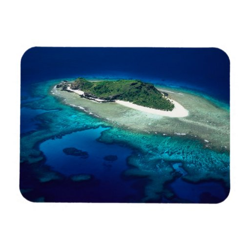 Eori Island, Mamanuca Islands, Fiji - aerial Rectangular Photo Magnet