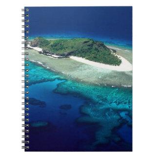 Eori Island, Mamanuca Islands, Fiji - aerial Spiral Notebook