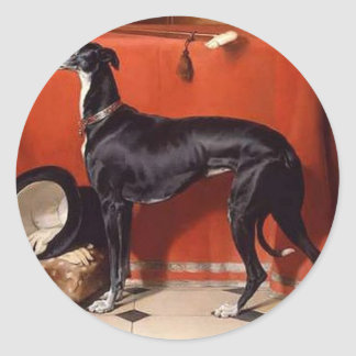Eos, A Favorite Greyhound of Prince Albert Classic Round Sticker