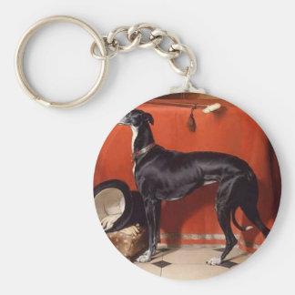 Eos, A Favorite Greyhound of Prince Albert Keychain