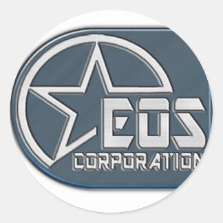 Eos Logo Classic Round Sticker